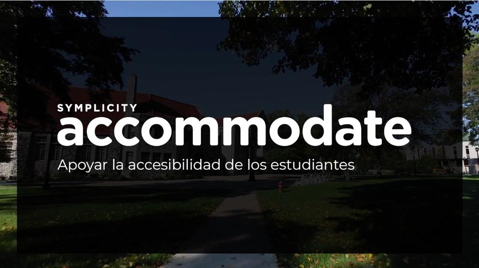 Symplicity Accommodate Spanish
