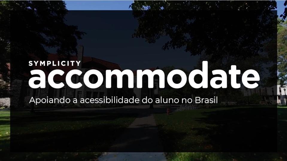 Symplicity Accommodate Portuguese