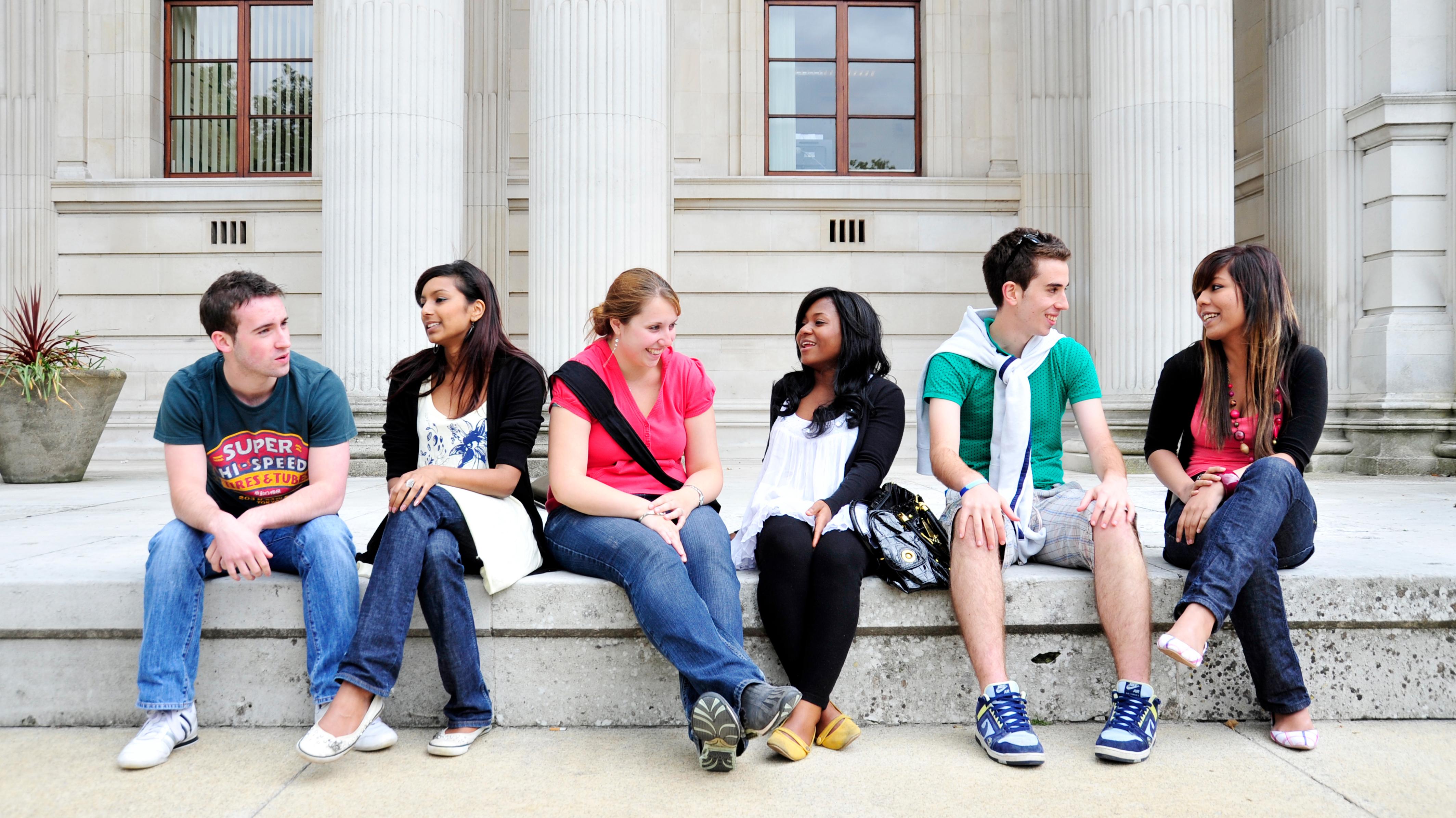 students-outside-glamorgan-building